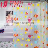 Cheap Bright colored shower curtain
