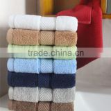 2015 Luxury Dobby Healthful 100% cotton Towels hotel bath towel supplier