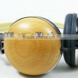 wooden headphone for ipod/iphone/PC/mp3/3.5MM mobile with microphone from shenzhen