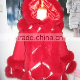 custom order accept double twist fox fur trim hood woman cashmere cape                                                                         Quality Choice