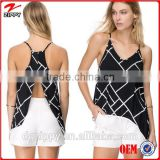2015 new fashion printed wholesale clothing sexy cut out back Chinese clothing manufactorers women's clothing