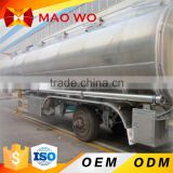 Stainless Steel Liquid Food Transport Semi Trailer 20-50M3 Milk Transport Tank Truck For Sale
