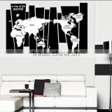 Large decal world map wall stickers
