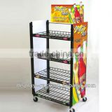 supermarket free standing 4 layers bottle wire modern shelf display rack for beer HSX-1128