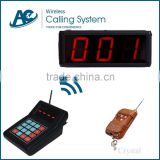 LED display receiver pager waiting number system queue take meal equipment wireless restaurant queue management system