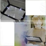 High quality magnifier reading light for old people/foldable reading light/full page magnifier
