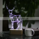 3d lamp animal design table lamp fast usb charging rechargable white lighting Christmas gift sinohamm made in shenzhen