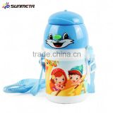 Wholesale 400ml kid's sublimation heat press blank clear plastic water bottles