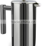 800ML Stainless Steel French Press, Coffee Plunger, Press Pot, Cafetiere, Double Walled, 34 oz