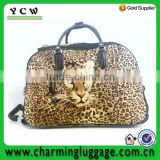 Fashion animal compass luggage trolley bag