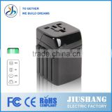 China factory using imported raw materials Double USB 2500MA universal power travel adapter