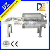High Efficiency Hot-Sale Stainless Steel Filter Press Machine For Wine Making/Sludge Dewatering
