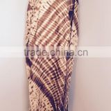 Women's tie dye printed long kaftan dress, beach wear, beach wrap , coverup, sexy kaftan