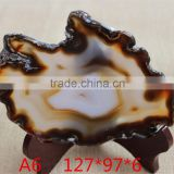 Natural mixed colors brazilian agate slice for home decoration