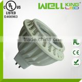UL CE RoHS FCC listed 3w 4w 5w 6w 7w MR16 COB gu10 24v led spotlight