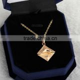 2014 fashion gold plated germanium statement pendant necklace jewelry(AM-D0264-J-B)