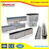 Professional polymer concrete drainage channel with stain steel galvanized grate EN1433 standard surface drainage