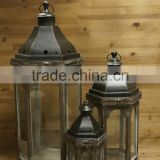 Cheap Antique Set 3 Garden Candle Holder Customized Wooden Hanging Lanterns