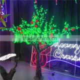 Garden decorative artificial pvc apple trees with leds