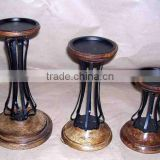 Designer Wooden Candle Holder,Decorative Wooden Candle Holder