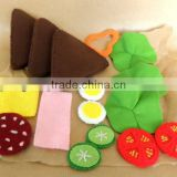high quality laser cut non-woven felt diy accessories kids craft vegetable fruit set baby educational toy manufacturer in China