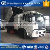 CLW 2017 best offer price of street road sweeper truck mounted with 170hp sweeping deputy engine