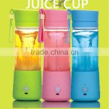 Fashion Portable electric Juice Blender /juice cup/ Juice Extractor (Blue,green and pink)