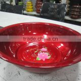 30.36.40cm Durable unbreakable spraying red color wash basin