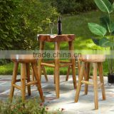 Teak Log Furniture Type Set bar Table Natural Color