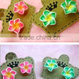 fashion Hawaiian plumeria Flower stud earring Designs for Women,Kids polymer clay Earrings