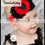 2015 fashion Wholesales assorted color baby headband with daisy flower baby hair accessories headbands