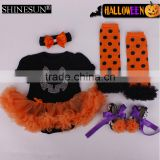 Wholesale baby girl romper pettiskirt halloween newborn baby clothing set outfit