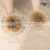 14 - 15cm Raccoon Fur Ball Fur Pom Poms Fur Pompom for Hat winter Skullies Beanies Hat Cap Bag Key chain Clothes