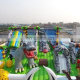 HI 0.55mm PVC kids and adults inflatable dinosaur amusement park games for sale from China factory