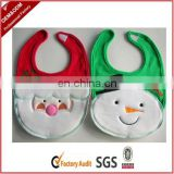 Cheap cute cotton baby bib for festival gifts