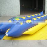 Customized inflatables banana boat PVC inflatable water park banana boat
