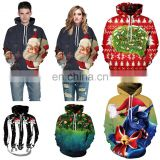 Christmas 3d Digital Print Jumprers Athletic Sweaters Hoodie Hooded Pullover Sweatshirts