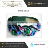 Trendy Woven Rope Belt for Supply at Negligible Market Rate