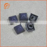 fashion purple metal square pyramid studs for bags