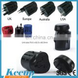 Personalized 150 countries travel adapter can used for singapore malaysia philippines travel plug adapter