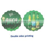 promo brand name customised beer mat coaster