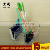 Clear office accossries acrylic pen holder, perspex pencil display stand