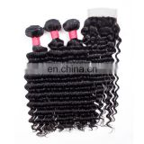 Peruvian Virgin Human Hair Bundle with Lace Closure