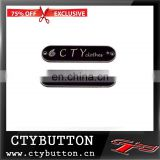 2015 CTY brand custom logo metal label for clothing