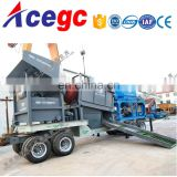 Stone gravel sand trommel screen gold sluice machine for sale