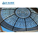 China Manufacturer Steel Space Frame Glass Atrium Dome Roof Skylight Roof with Fiberglass