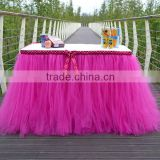 Handmade Tutu Tulle Table Skirt Cover Beautiful, Eye Catching and Unforgettable Party Centerpiece SD103