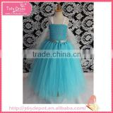 Elsa long bubble dress costume cosplay for baby girl to party