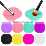 New Design Multicolor Silicone Makeup Brush Cleaner Washing Scrubber Board Cosmetics Mat Pad Cleaning Tools brushes clean