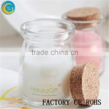 Online /Glass Bottles With Candle / Wish Bottles /Glass Jar With Color Wax For Home & Decoration